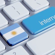 Argentina High Resolution Internet Concept
