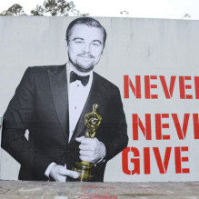 LOS ANGELES, CA - MARCH 03:  Leonardo DiCaprio Oscar street art mural on March 3, 2016 in Los Angeles, California.  (Photo by Matt Winkelmeyer/Getty Images)