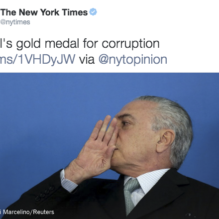 nytimes-brasil-corrupcao-medalha-ouro
