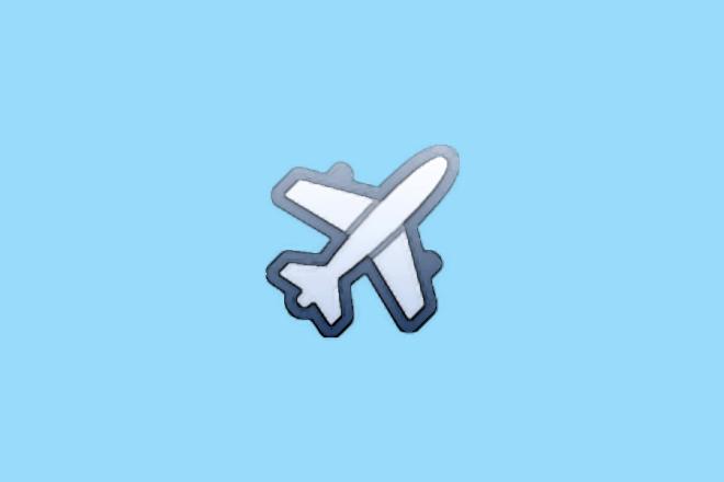 Flag Plane Flag Emoji Pop