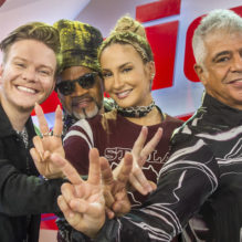 Claudia Leitte, Carlinhos Brown, Lulu Santos e Michel Teló
