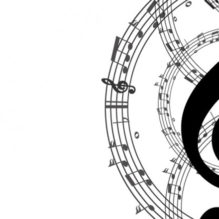 music-key-and-notes-background