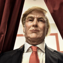 The newly made wax statue of US newly elected President Donald Trump is exhibited on December 8, 2016 at the wax museum of Rome. / AFP / ALBERTO PIZZOLI / Alberto PIZZOLI        (Photo credit should read ALBERTO PIZZOLI/AFP/Getty Images)