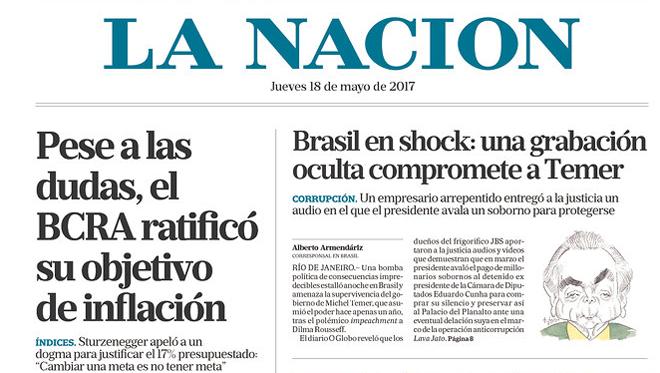 brasil-temer-18-maio-2017-lanacion