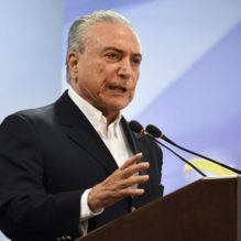 DF - Brasilia - 20/05/2017 - Pronunciamento do Presidente Michel Temer - Michel Temer, Presidente da Republica, promove pronunciamento a imprensa neste sabado, 20 de Maio, no Palacio do Planalto. Foto: Mateus Bonomi/AGIF (via AP)