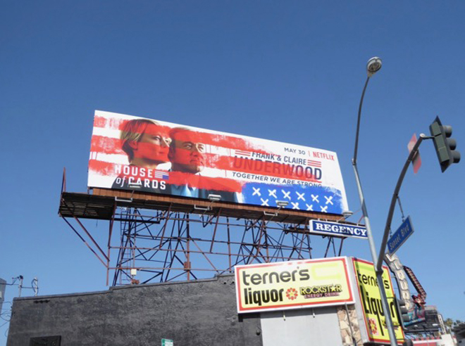 house of cards 5 billboard ad