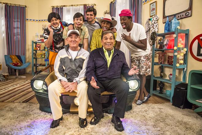 Didi ( Renato Aragão ), Dedé ( Dedé Santana ), Didico ( Lucas Veloso ), Dedeco ( Bruno Gissoni ), Mussa ( Mumuzinho ), Zaca ( Gui Santana ) e Tião ( Nego do Borel )