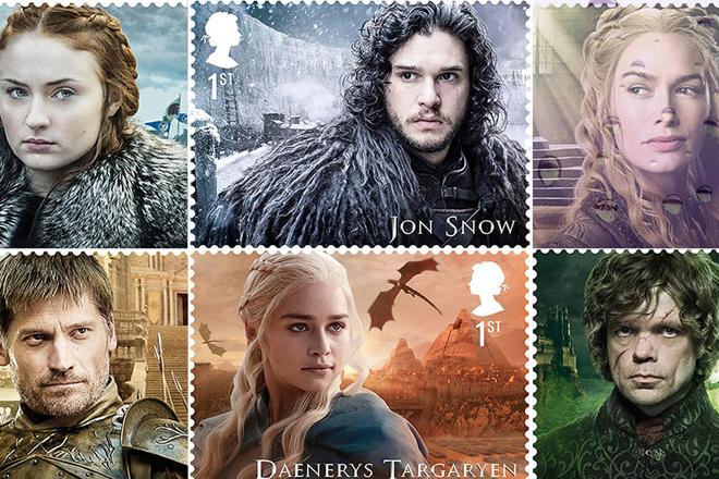 Royal Mail lança conjunto de selos de 'Game of Thrones' – sao 15 modelos