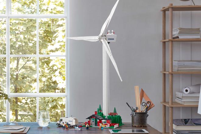 Lego lança kit com turbina eólica que funciona de verdade – 1m de altura