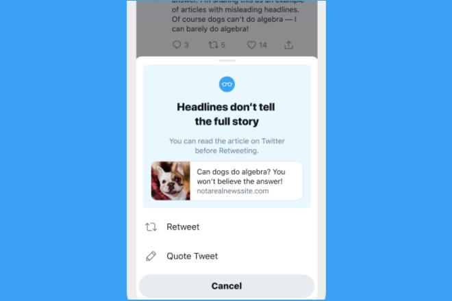 Em breve, Twitter vai chamar sua atençao se vc quiser retuitar um artigo que nao leu - Blue Bus